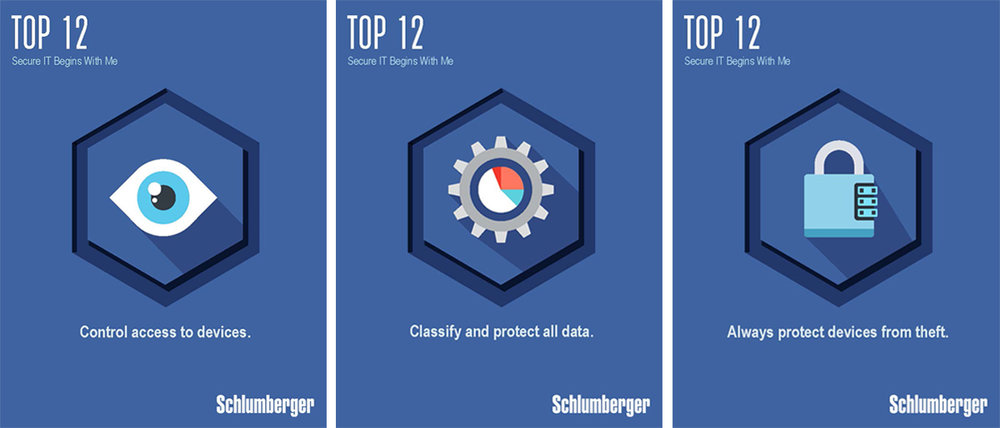 Company-Wide IT Security Posters, Schlumberger