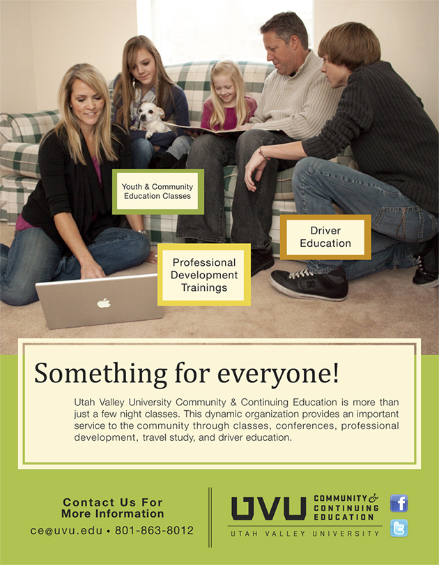 Local Magazine Advertisement, for UVU Community & Continuing Education