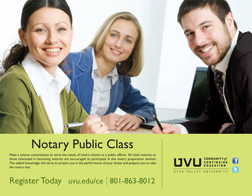 Local Business Magazine Advertisement, for UVU Community & Continuing Education