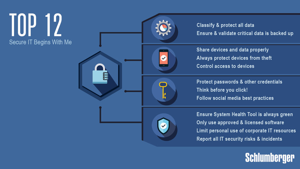 Company-Wide IT Security Screen-Saver, Schlumberger