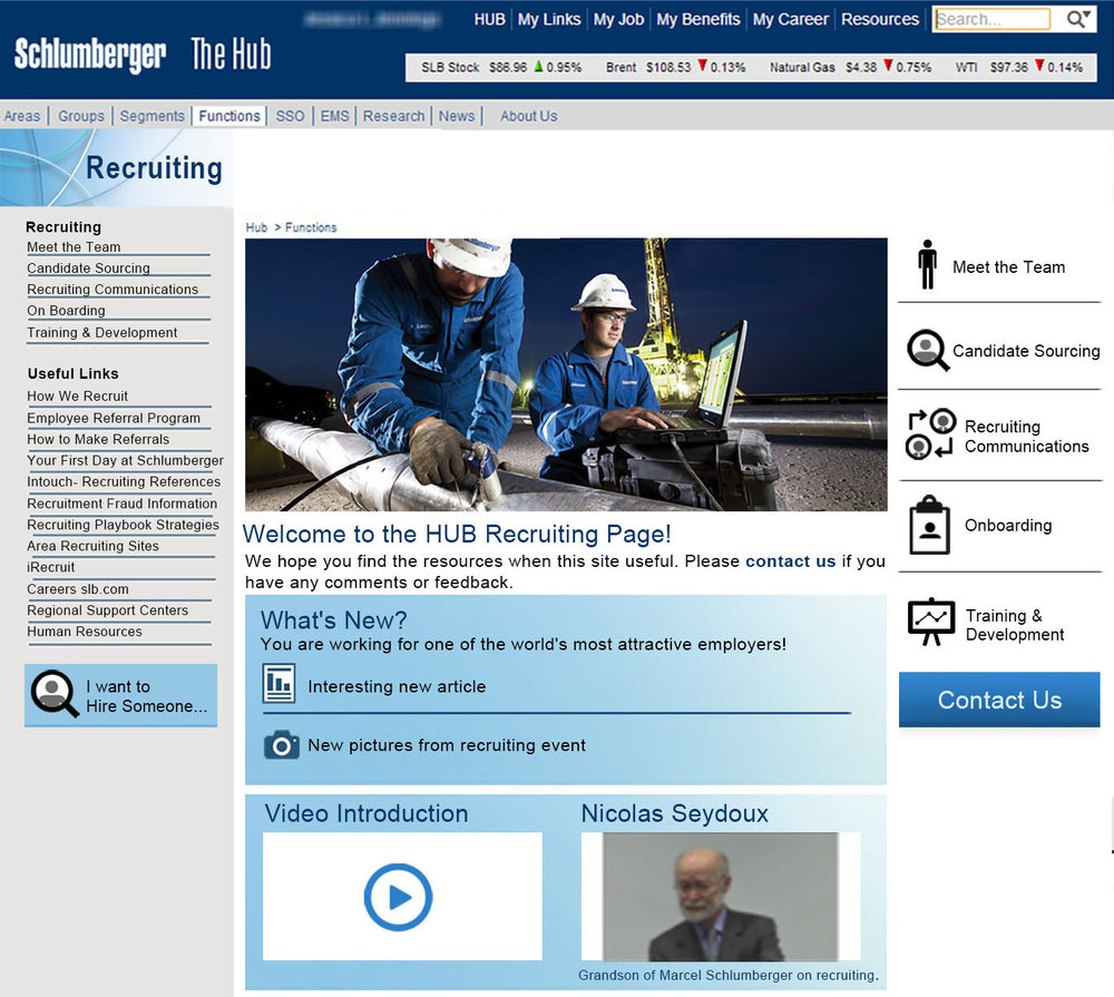 Recruiting Home, Schlumberger