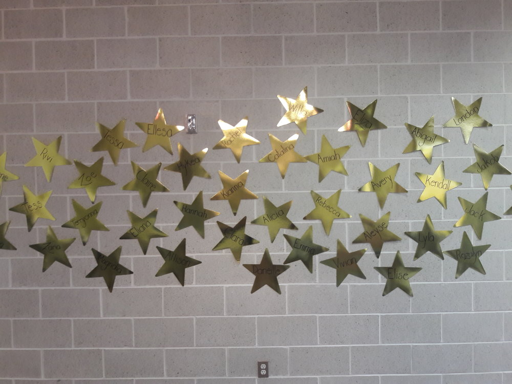 The wall of stars, honoring all our stars!