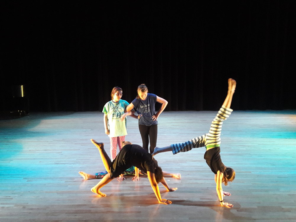 Modern (ages 12-15) students perform during dress rehearsal