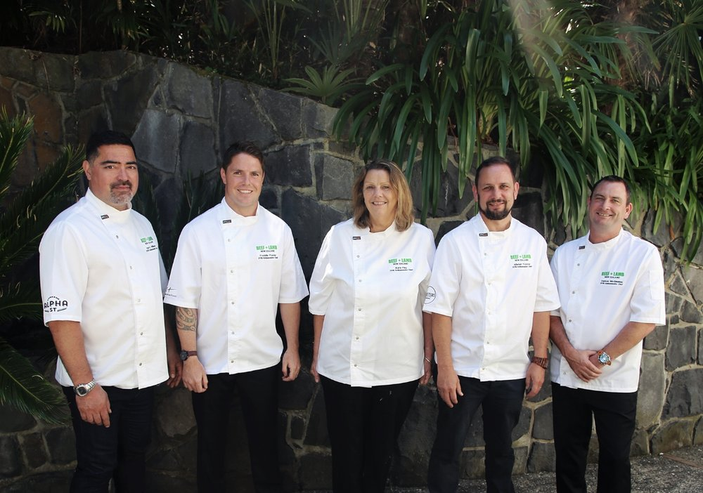 2018 Beef and Lamb Ambassador Chefs, Harry Williams, Freddie Ponder, Kate Fay, Alistair Forster, Damon McGinniss