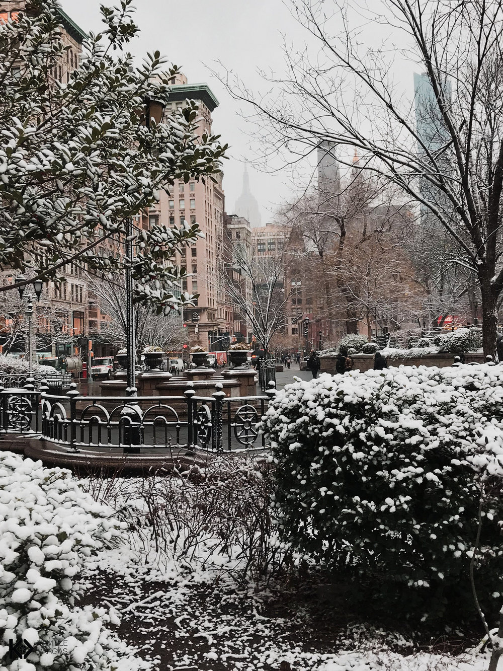 Union Square Park Snow Day