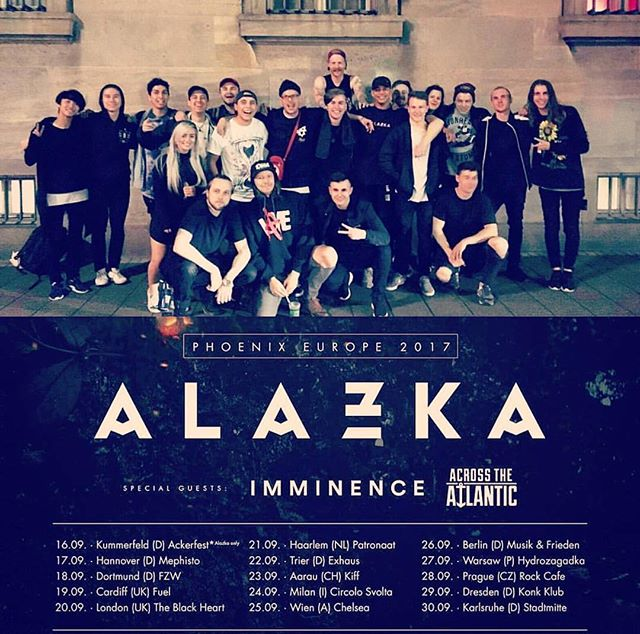 That's a wrap!! 🌎🔥 We had such an incredible time in Europe on tour with our new friends in @alazkaofficial & @imminenceswe !  Can't wait to return  #SharptoneRecs