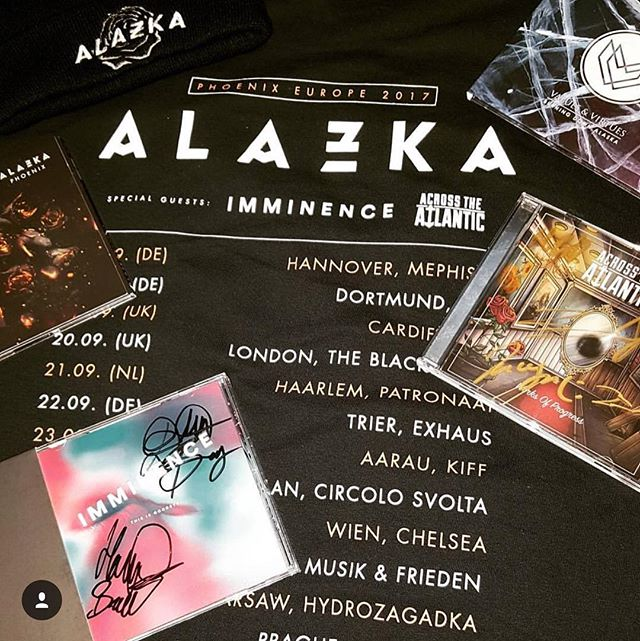 We're only midway through tour and already have been blown away by the beauty & culture of Europe + the passion & sincerity of so many new awesome fans.  To make things even better we are sharing this experience with two phenomenal bands in @alazkaofficial & @imminenceswe!  One week left, let's get wild! 🤘🏼🔥 #SharptoneRecs #PhoenixReleaseTour #Alazka #Imminence #ATA #WorksofProgress