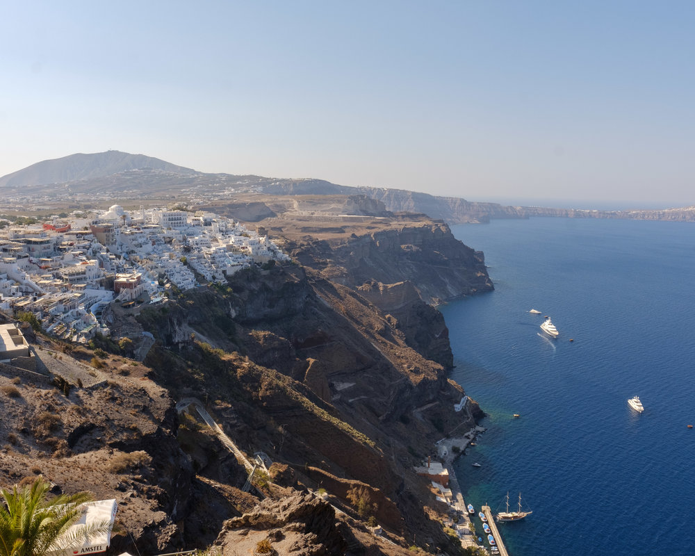 Looking back at Fira.