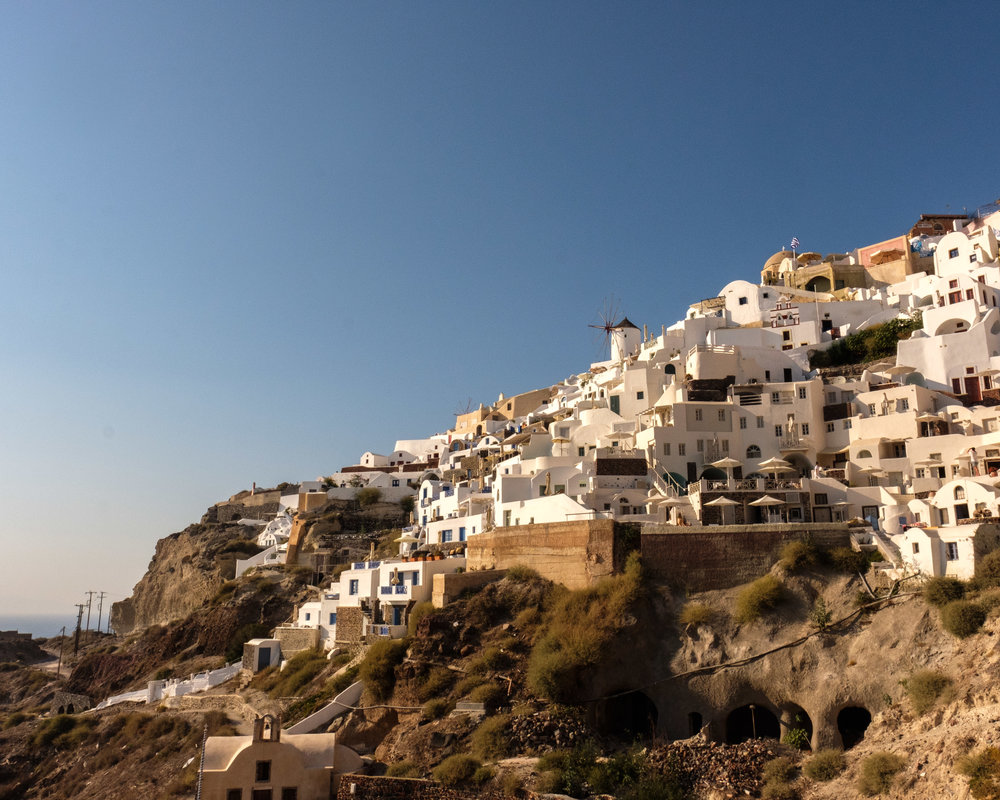 View of Oia from the top of the stairs