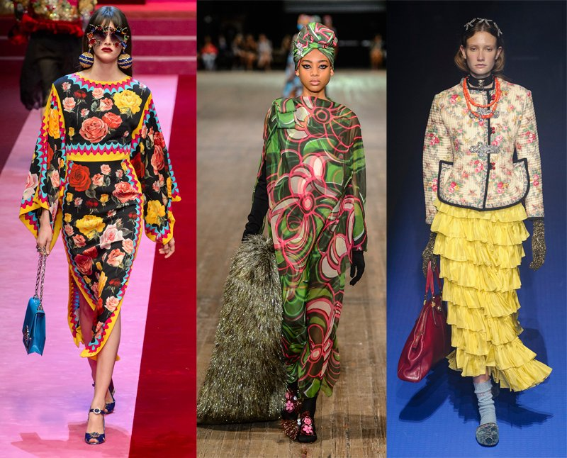 Image courtesy of Décor Aid ~  Retro florals as seen on the Dolce & Gabbana, Marc Jacobs and Gucci
