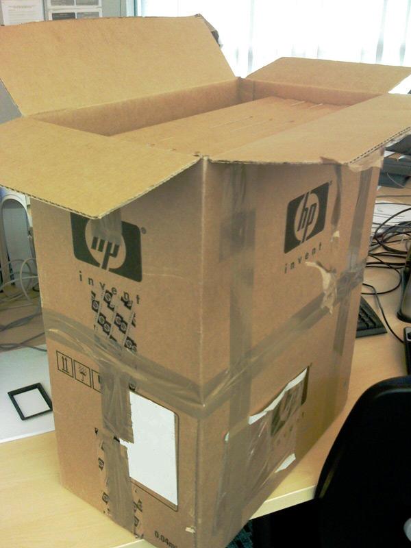 HP wasteful packaging