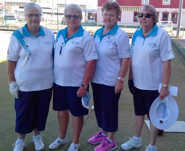 Congratulations to Bev Black, Lynn Fisher, Marilyn Allen and Lee Bristow winners of the Southwest District Bowls 4's.