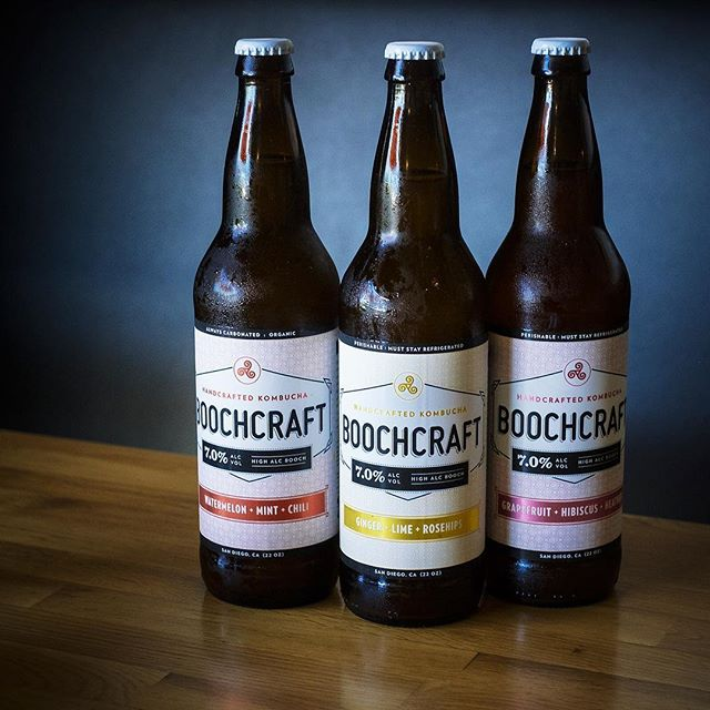 Perfect for a mid-summer weekend; we're now carrying delicious adult Kombucha from @boochcraft - 7% ABV in a variety of flavors!