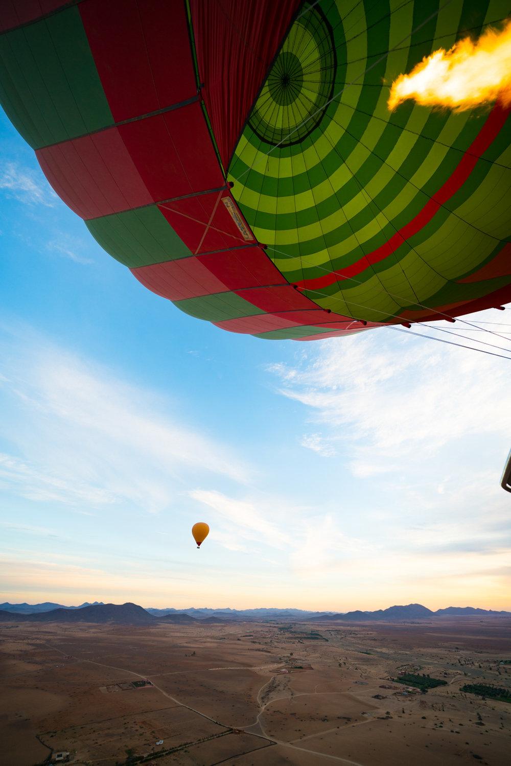hot air balloon morroco