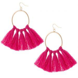 CeCe Olisa Pink Tassel Earring.jpeg
