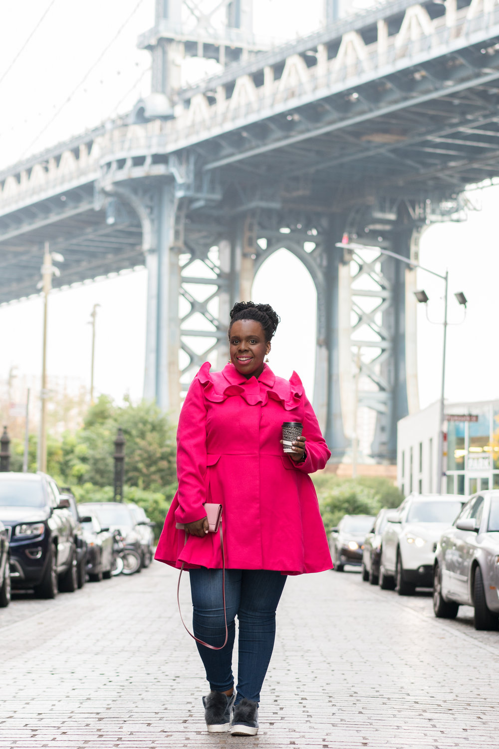 Perfect Pink Plus Size Coat CeCe Olisa