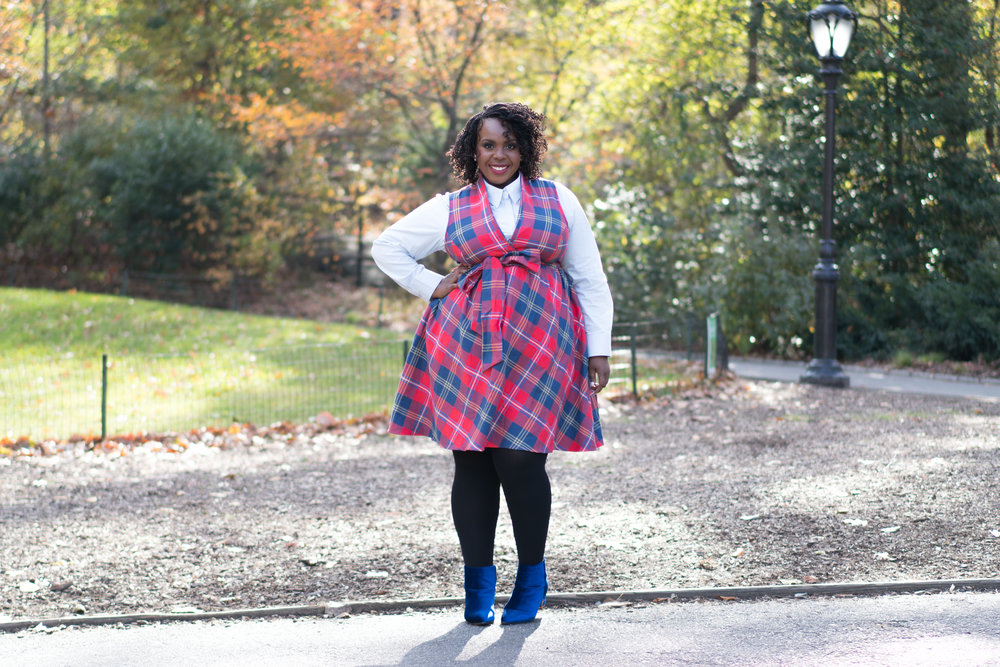 Modcloth Plus Size Plaid Dress ceceolisa.com