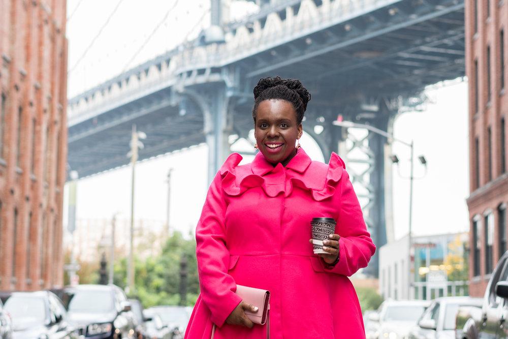 plus size pink coat ceceolisa.com