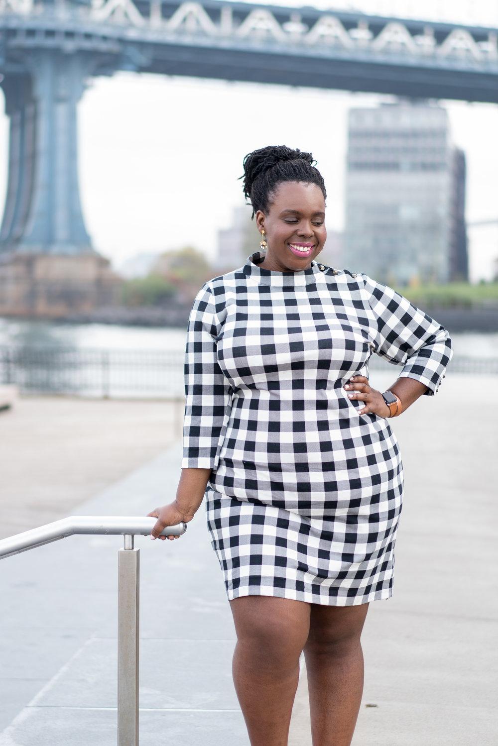 plus size vintage dress buffalo check ceceolisa.com