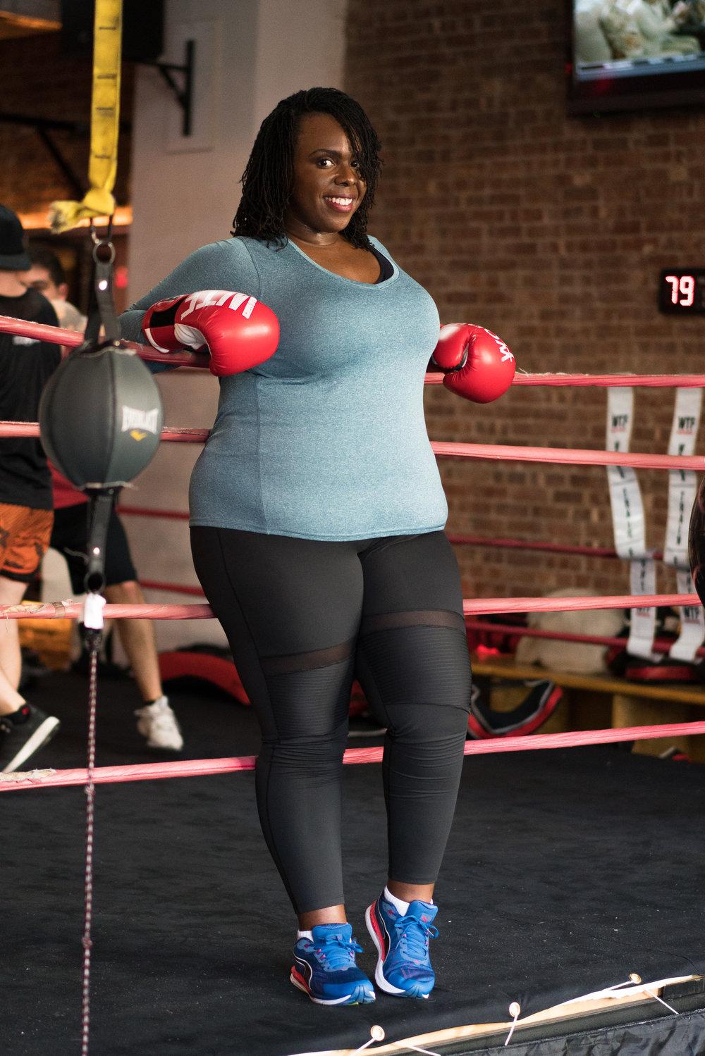 women boxing plus size workout clothes ceceolisa.com