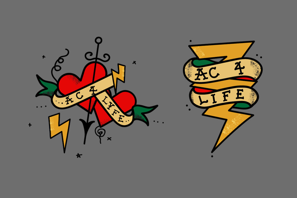 """Temporary tattoo design for """"Edison: The Musical"""" Client: CA Technologies Directed by John Mcneil Studio credit: illustration"""