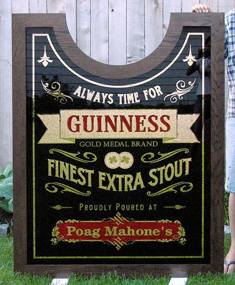 Guinness Clock Sign