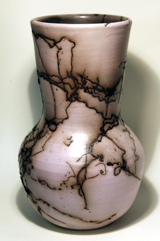 Porcelain, raku fired, 4 x 7 inches, 2017