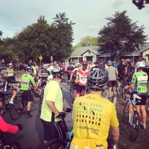 Hundreds of riders gathered for a solidarity ride in support of Christian Ashby and the #andacyclist movement