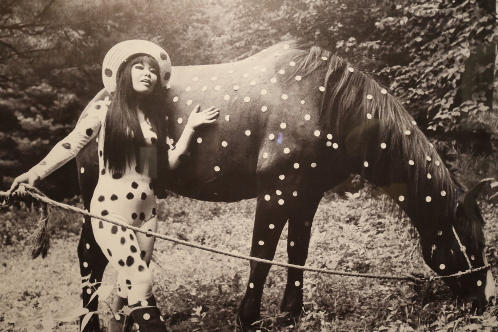 The artist as a young polka-dotted woman