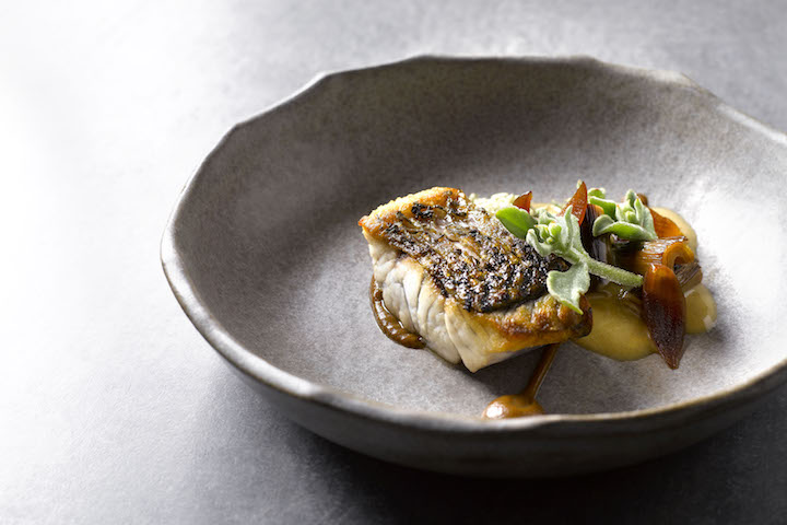 """Barramundi with leeks & bonito butter at Cheek by Jowl, one of several """"Australian"""" restaurants to win a star."""