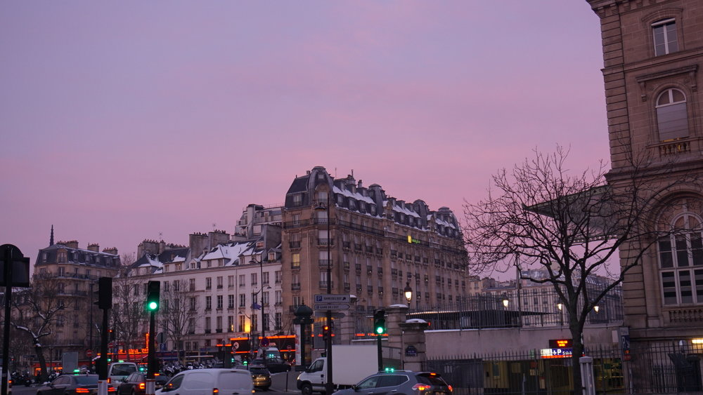 Waking up super early because of jet lag has had amazing benefits - like seeing the sun rise over Paris. My goodness, when the light hits these fantastic Regency-era buildings, I actually want to cry.