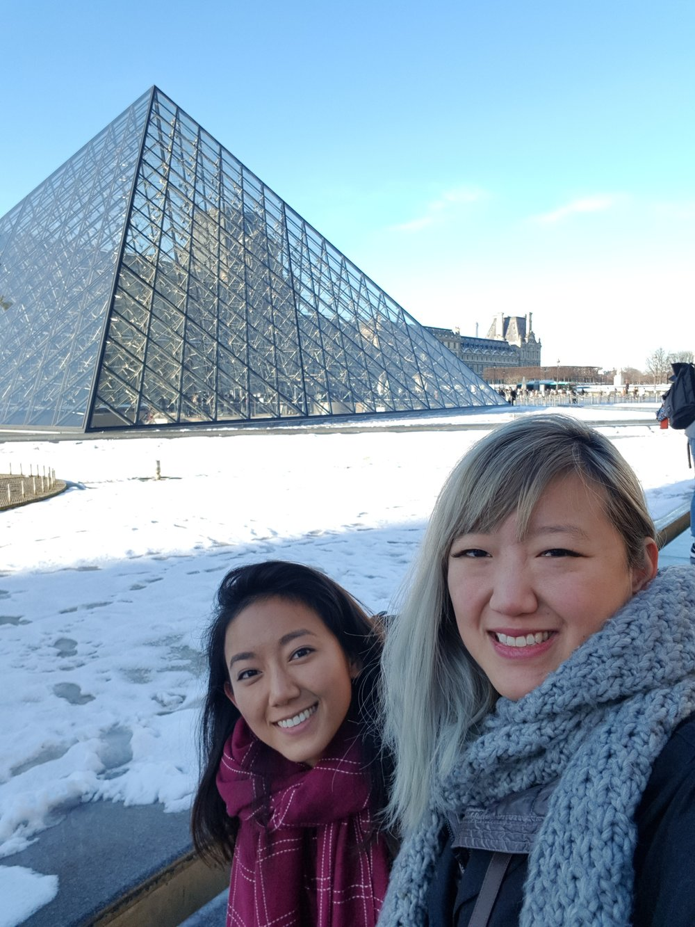 In front of the famous I.M. Pei-rymid!