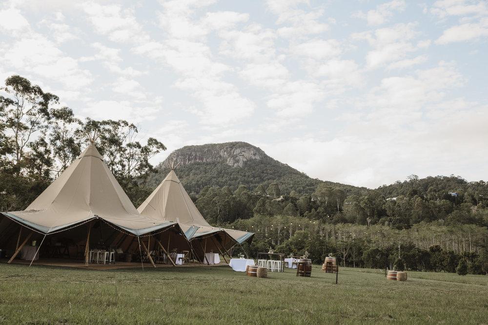 Wedding Tipi's Sunshine Coast