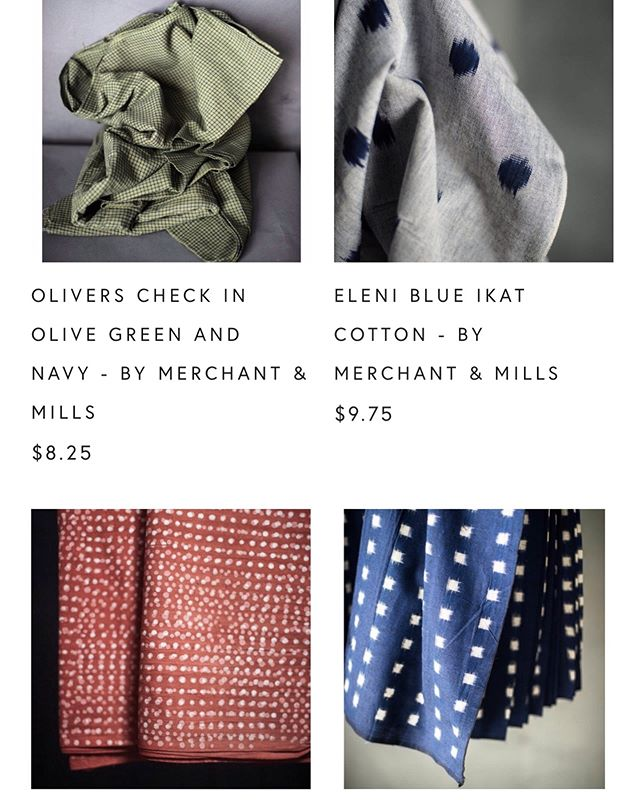 Check out the online shop for fabric! From @merchantandmills