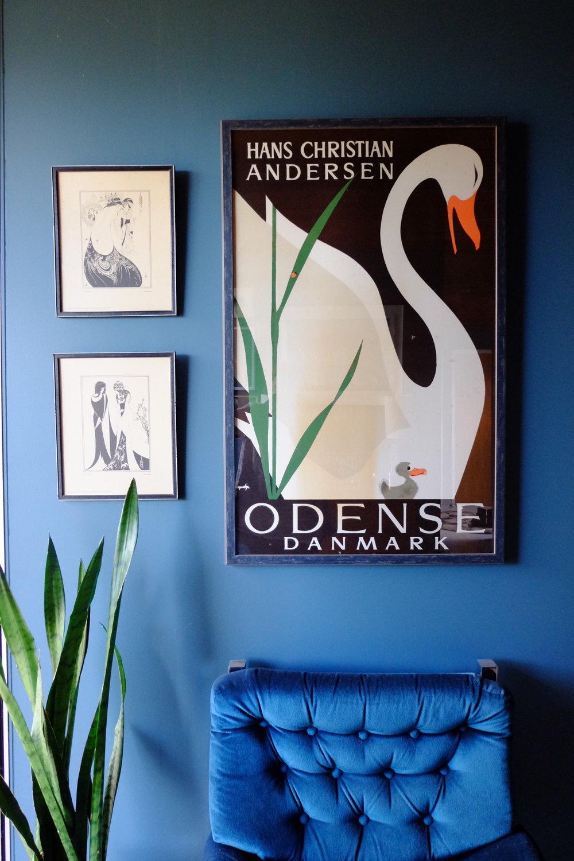 Evie's Hans Christian Anderson print.