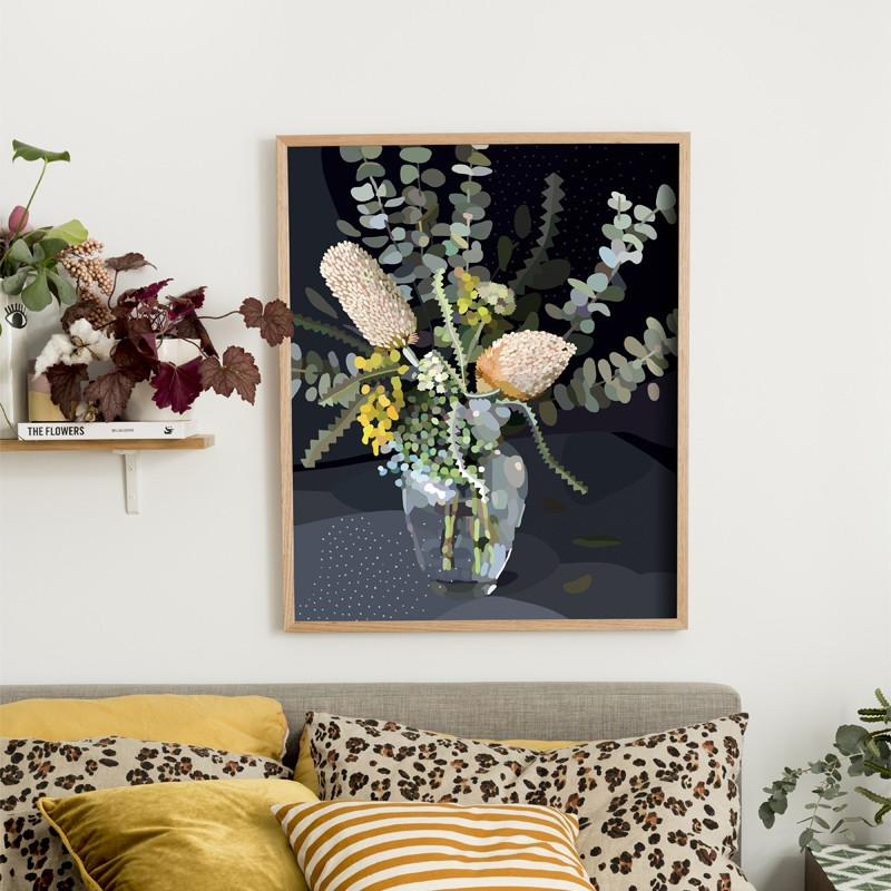 'Bloom III' by Kimmy Hogan print from Greenhouse Interiors.