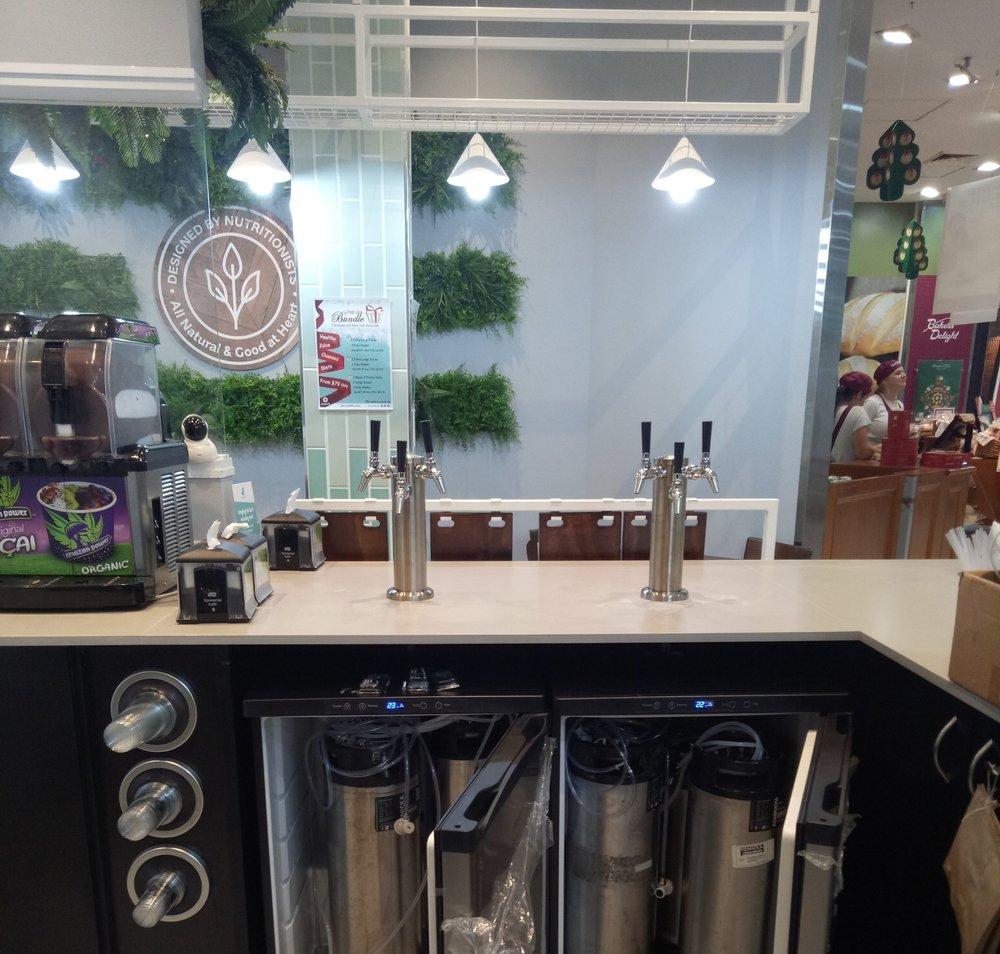 A recent TONICKA Kombucha tap and keg installation
