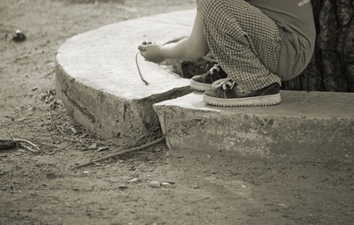 """LINES AND CURVES: """"KID AND SHOE LACES"""""""