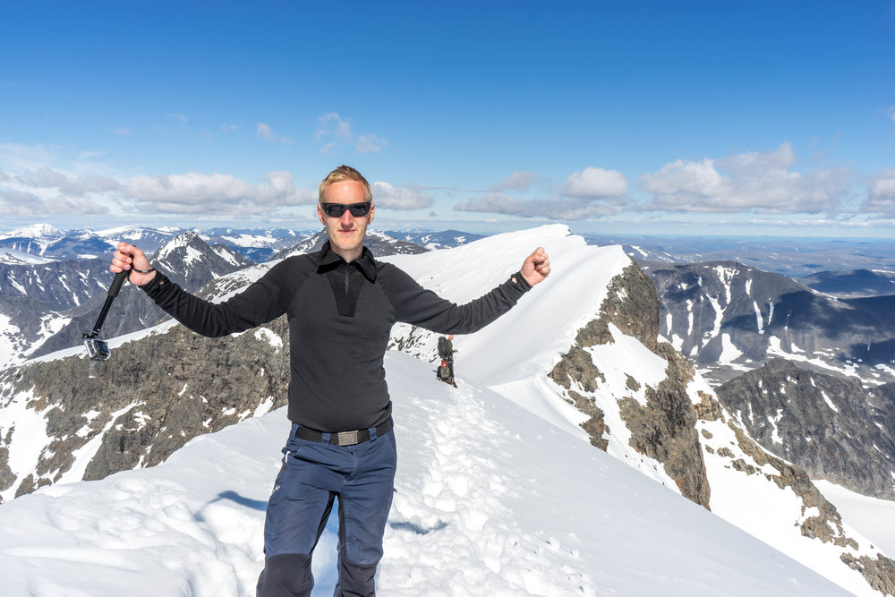 Toppen på kebnekaise. Foto: Andreas Niva