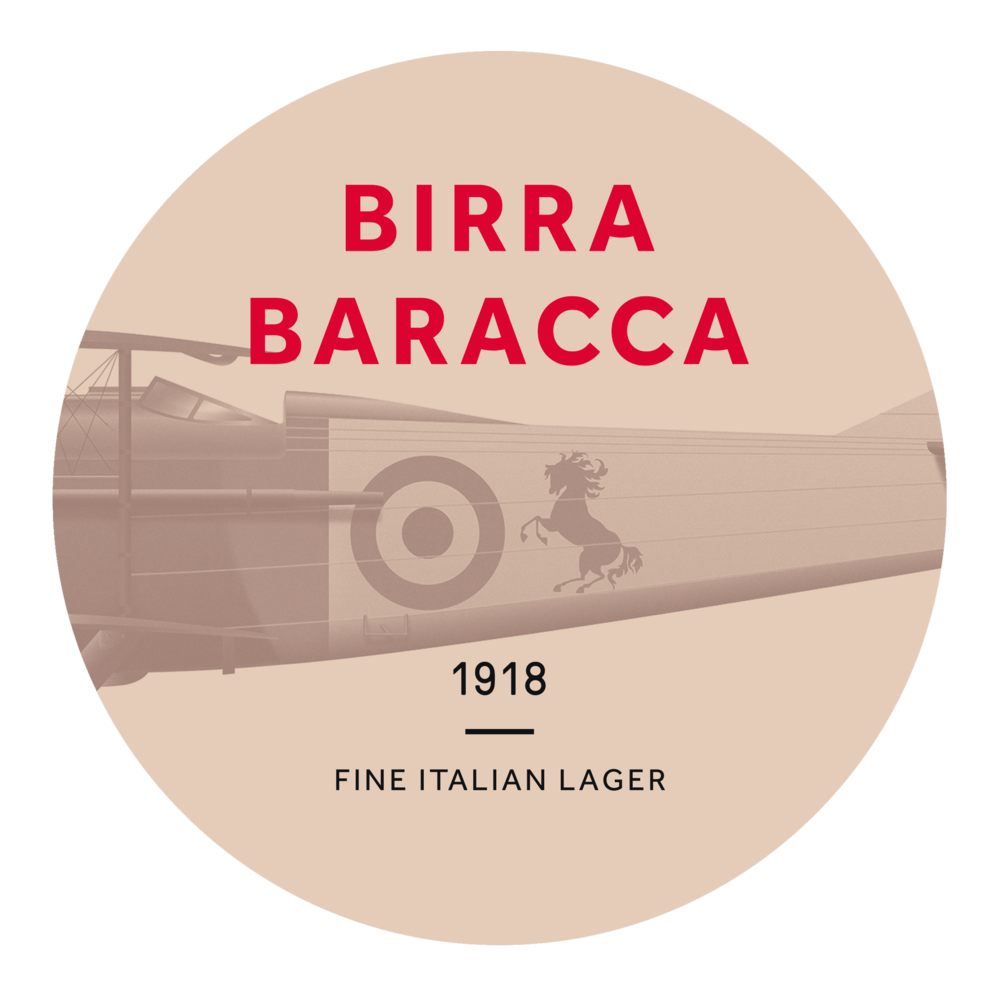 birra baracca - The Birra Baracca Lager has a straw yellow appearance with a fresh scent of hops and a smooth flavour of yeast. With a gentle dry finish and a persistent head of foam, this Lager is an easy drinking beer that's a perfect all-rounder to suit endless occasions.