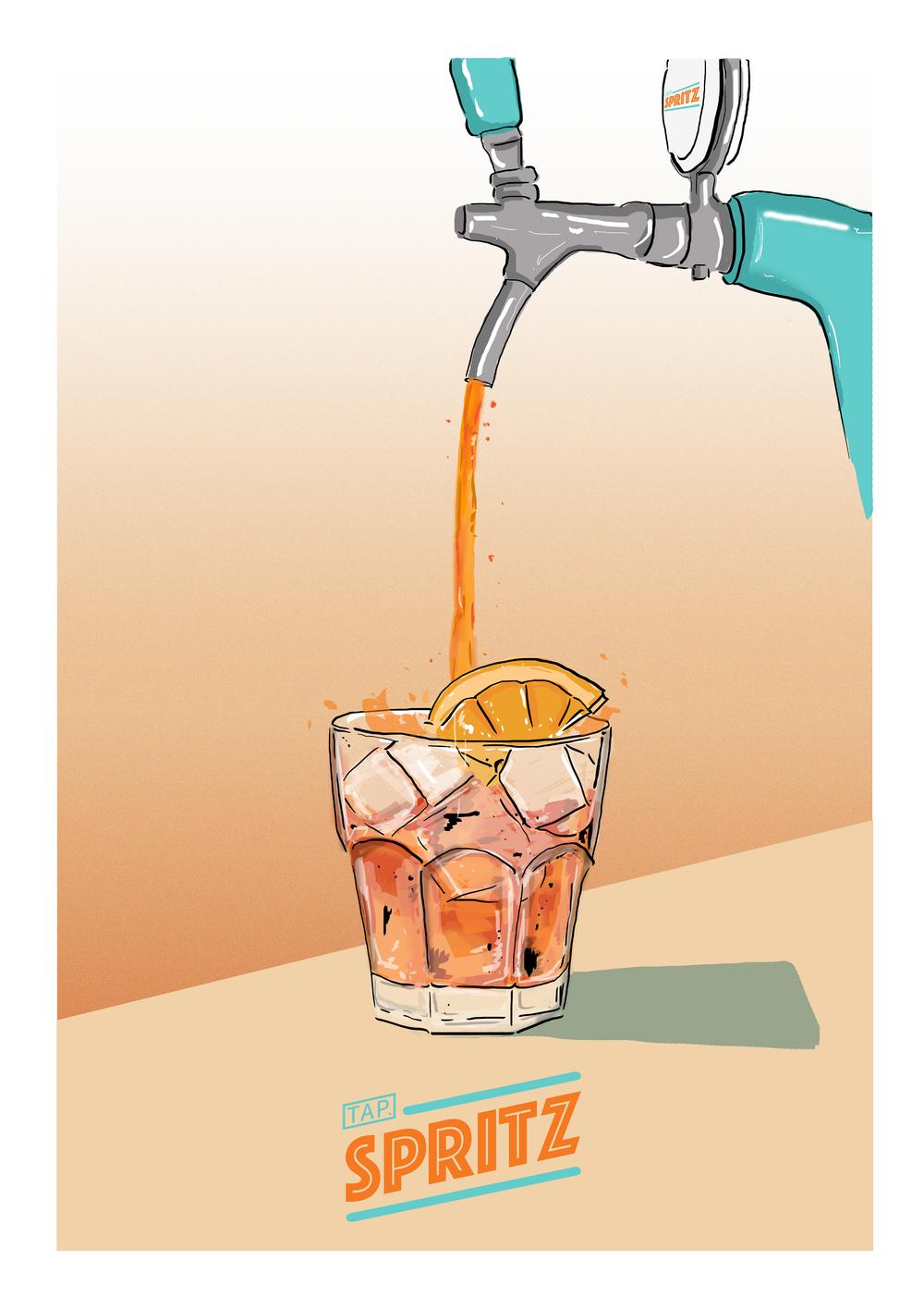 The Tap.spritz pour -