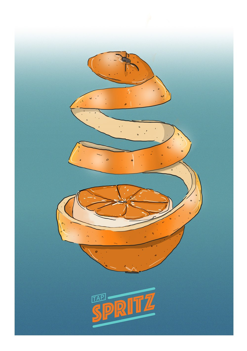 the orange swirl -