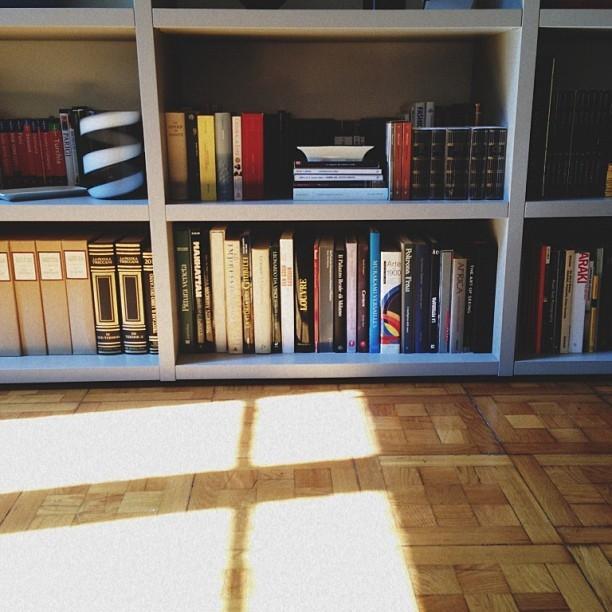 eduardoalcivar: #books #light #window #sunday I wish I had shot it. I wish it was my floor and bookshelf.