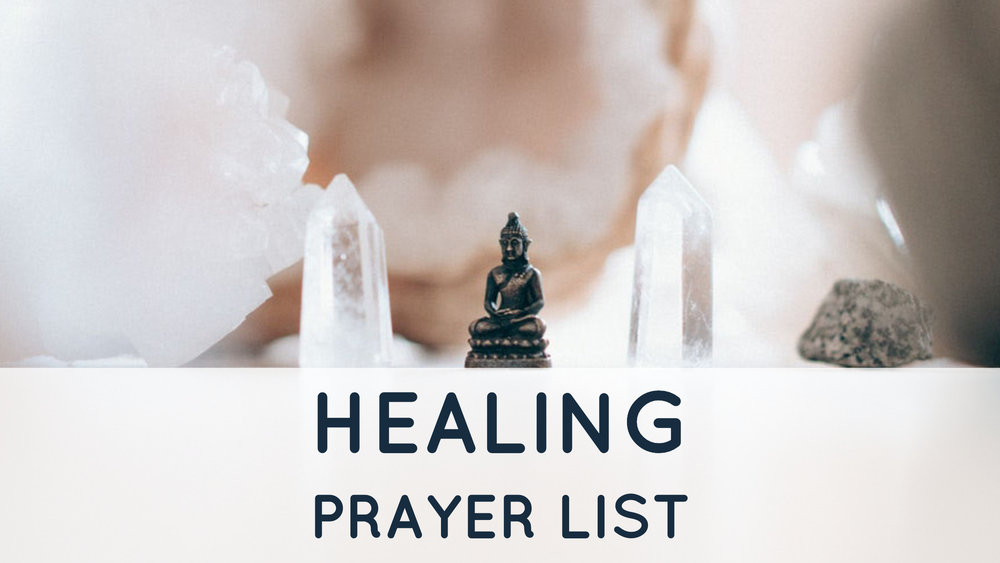 Healing Prayer Lists