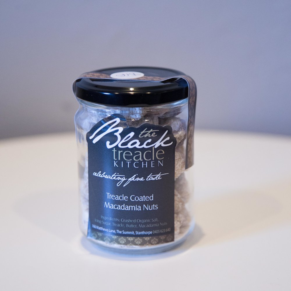Black Kitchen Treacle Macadamia Nuts - $16