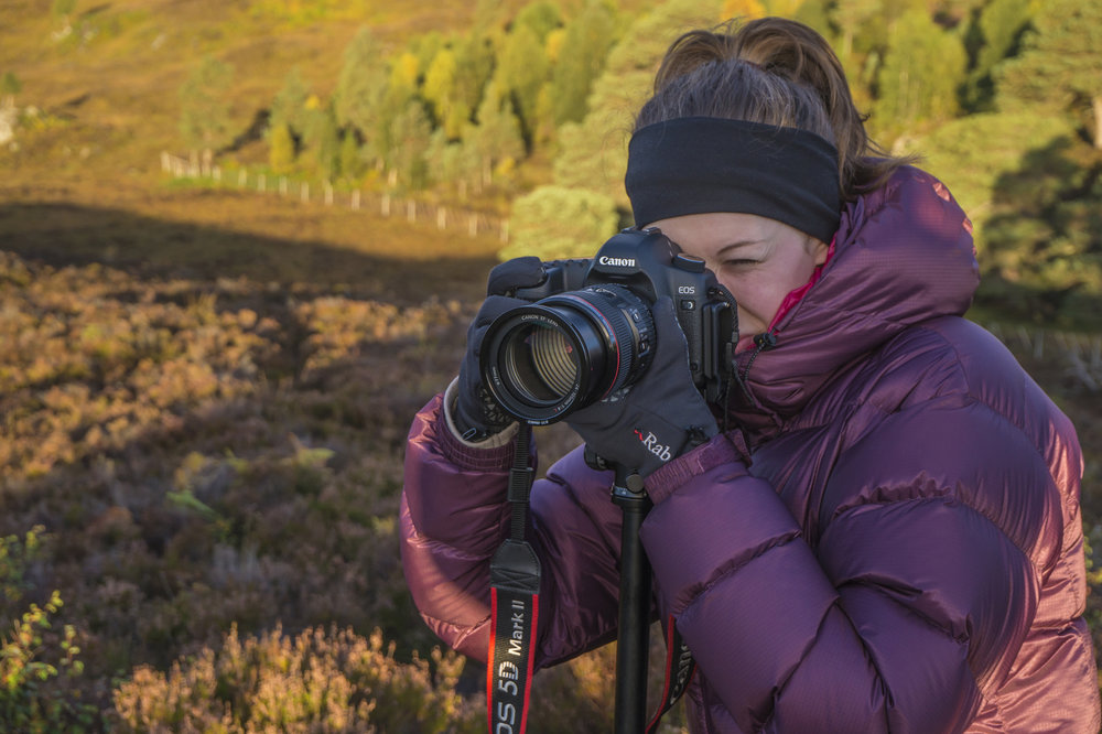 Shooting the sunrise down Glen Affric in Scotland.