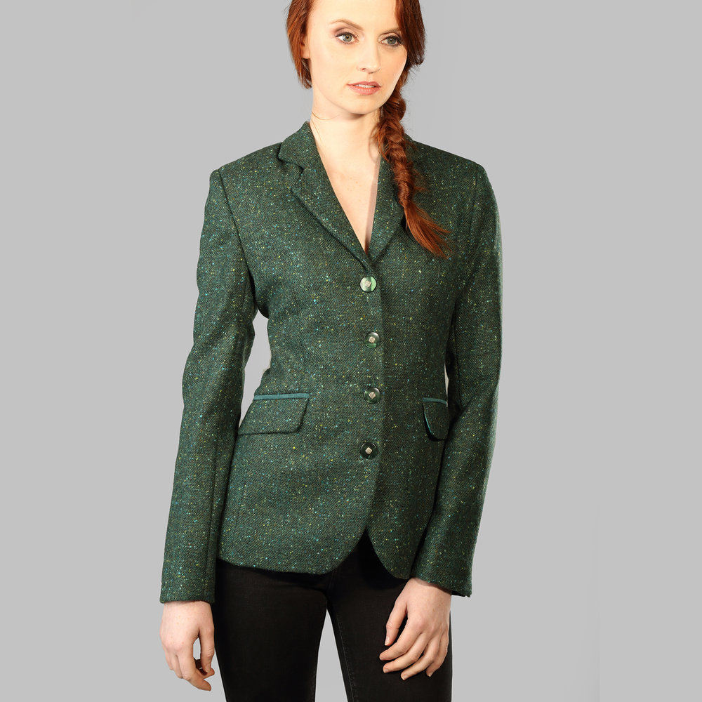 Green Salt & Pepper Donegal Tweed Jacket - SHOP NOW