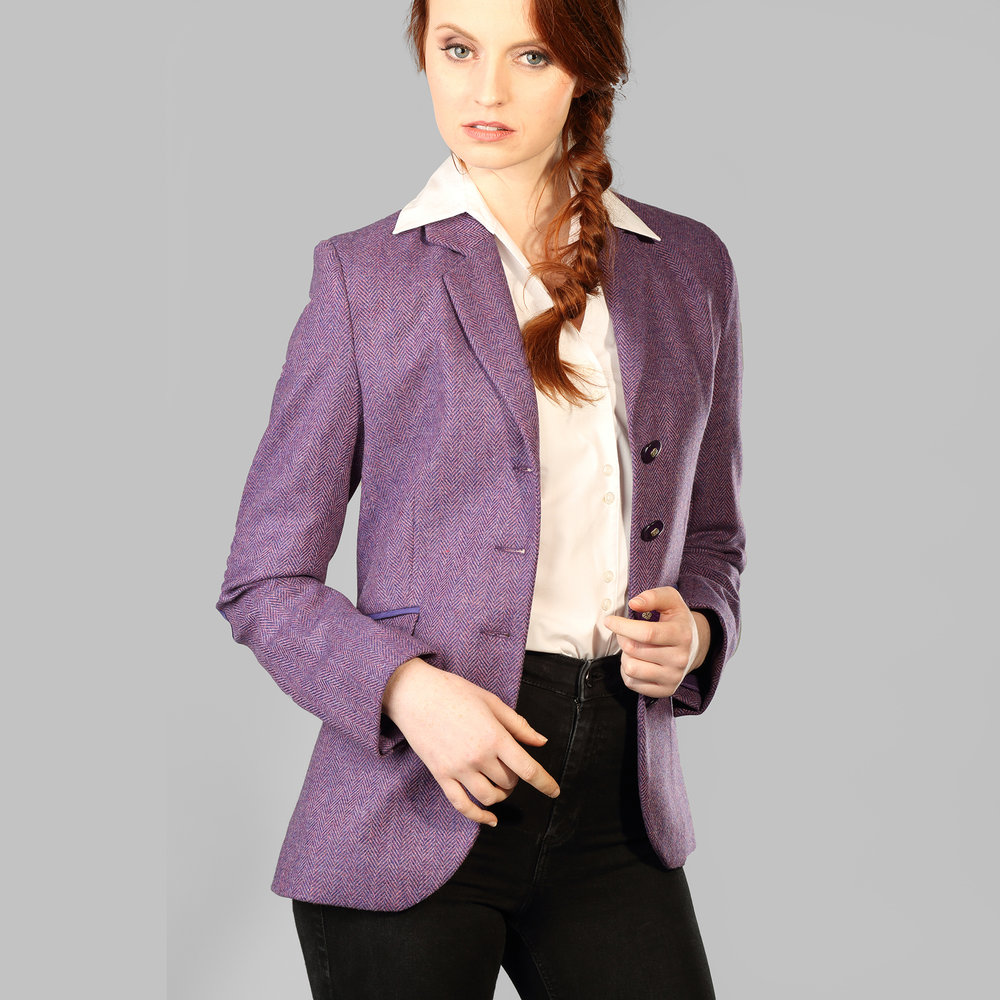 Purple HerringboneDonegal Tweed Jacket - SHOP NOW