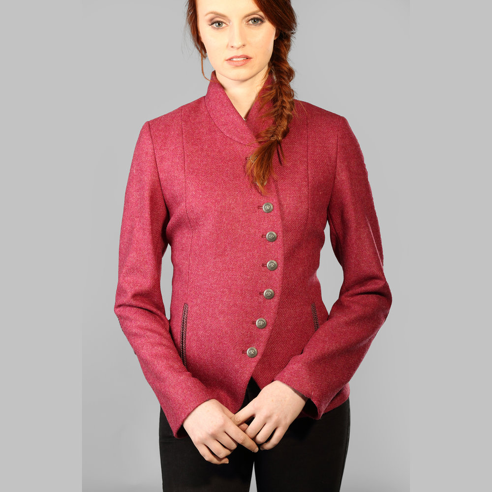 Pink Curve Womens Donegal Tweed Jacket - SHOP NOW