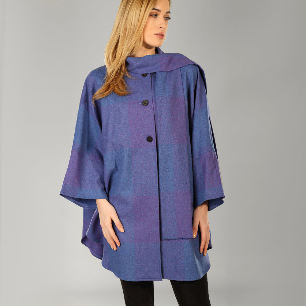 Purple Heather Donegal Tweed Cape - SHOP NOW